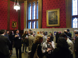 Drinks receptions in strangers dining room, palace of westminster