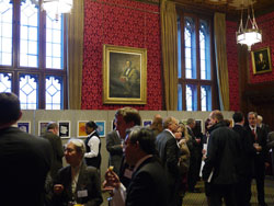 Drinks reception in strangers dining room, palace of westminster